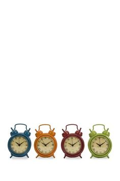 Corblin Desk Clocks - Set of 4 by Revamp With Vintage Accents on @HauteLook