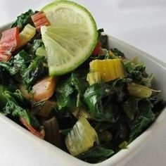 "Swiss Chard Sauteed with Lime I ""Easy and flavorful!"""