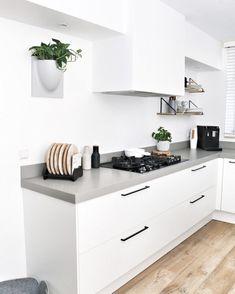 Trendy Home Kitchen Interior Beautiful Kitchen Designs, Beautiful Kitchens, Cool Kitchens, Kitchen Interior, New Kitchen, Interior Design Living Room, Rustic Kitchen Design, Trendy Home, Cuisines Design