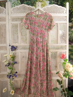 """""""Seychelles Ladies Dress"""" from April Cornell. Loving the feminine floral print and flow!"""