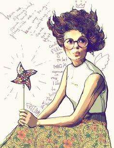 """To let magic come into your life, follow the bird of freedom.""  shu84: Svetlana Ihsanova Illustrations"