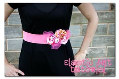 Elastic Belt Tutorial - this belt gets compliments any time I wear it!