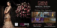 Bibi Bridal Show: Austin TX  Schedule -Mon, 20 Jun 2016 - Wed, 20 Jul 2016  12PM Venue -Hyatt Regency Austin 208 Barton Spring Rd Austin , TX 78704  For more event details:http://www.eknazar.com/Events/viewevent-id-112771/bibi-bridal-show-austin-tx.htm
