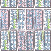 Gelati registers on white: gelati-coloured registers of abstract symbols on white background, basic repeat. Original: chalk on canvas; colour manipulated. [450 ppi]     http://www.spoonflower.com/fabric/787657