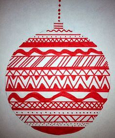 """Art: Expression of Imagination: """"Line Design Ornaments"""" by Eighth Grade                                                                                                                                                                                 More"""