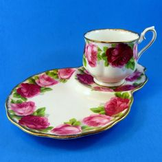 Royal Albert Old English Rose Tea Cup & Saucer Tennis Snack Set | Pottery & Glass, Pottery & China, China & Dinnerware | eBay!
