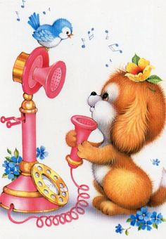 Vintage  puppy postcard by CuteEyeCatchers on Etsy