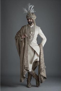 Best Sabyasachi Sherwani Collection For Groom - weddingzcraze Best Picture For Groom Outfit tie For Your Taste You are looking for something, and it is going to tell you exactly what you are looking f Sherwani For Men Wedding, Wedding Dresses Men Indian, Wedding Outfits For Groom, Groom Wedding Dress, Sherwani Groom, Indian Wedding Wear, Indian Weddings, Punjabi Wedding, Wedding Couples