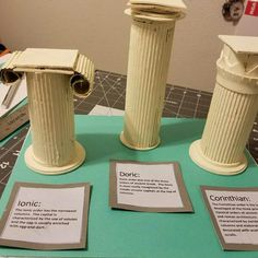 Discover thousands of images about grade greek columns project Ancient Greece Display, Greek Crafts, Free To Use Images, Teaching Art, Teaching Secondary, Thinking Day, Greek Art, Cardboard Crafts, Ancient Civilizations