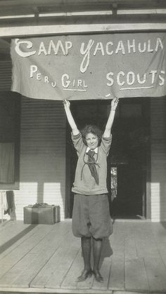 1919 Girl Scouts camp, national museum of american history, via Flickr