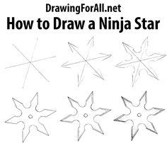 How to Draw a Ninja Star: http://www.drawingforall.net/how-to-draw-a-ninja-star/