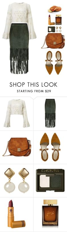 """Untitled #861"" by lo2lo2a ❤ liked on Polyvore featuring Miss Selfridge, Elie Tahari, Gabriella Rocha, NARS Cosmetics, Lipstick Queen and Dolce&Gabbana"