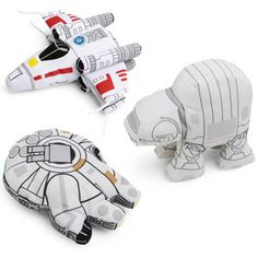 Star Wars had some great vehicle designs - and now you can hug them! Nothing is cuter than a chunky little X-Wing in plush form. Or the widdle AT-AT. Awwwww.