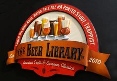 United States Sign Council: 1st place – Hand Carved Signs (2011) - Beer Library - Designer: Don McKernan | Danthonia Designs