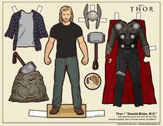 Thor paper dolls