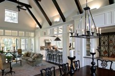 Love this great room.  It's from one of the May River homes at Palmetto Bluff.