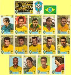 Panini stickers 1970 FIFA World Cup Mexico - Brazil squad