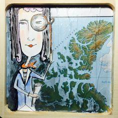The storyteller. Mixed media art by artist Jennifer Barrile #art #phillyartist #mixedmedia #watercolor FullSizeRender 2