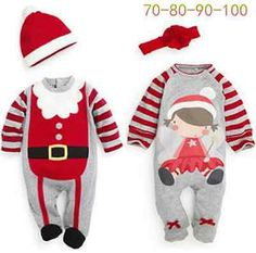 Newborn Baby Christmas Santa Claus Boys&Girls Holiday Party Outfit Clothes New