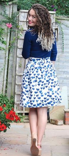 Hollie's Clemence skirt - sewing pattern in Love at First Stitch