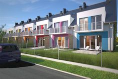 Projekt domu Edmonton DCS15 131,47 m2 - koszt budowy 216 tys. zł - EXTRADOM Home Building Design, Building A House, Houses In Poland, Terrace Building, Urban Design Plan, Casas Containers, Duplex House Design, Residential Complex, Terrace Design