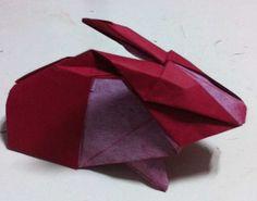 Animal - Origami Red Rabbit