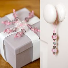 Beaded Box Topper and Charm Dangle.