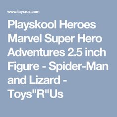 "Playskool Heroes Marvel Super Hero Adventures 2.5 inch Figure - Spider-Man and Lizard - Toys""R""Us"