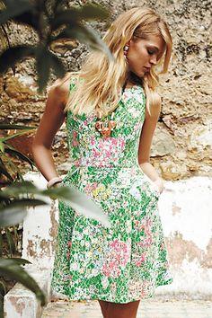 Laced Verbena Dress #anthropologie