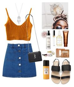 """Summer fair date"" by outfitonpointsl on Polyvore featuring Miss Selfridge, Yves Saint Laurent, Lucky Brand, Clarins, Chanel, Sephora Collection, MAKE UP FOR EVER, Lather, Acqua di Parma and statefair"