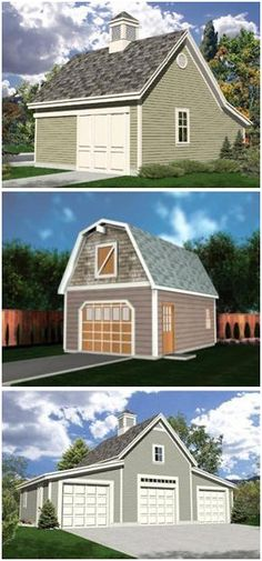 Two car garage with one bay tall enough for an auto lift for 3 bay garage cost