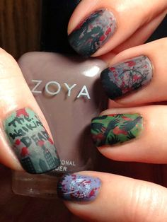 The walking dead nails!  So awesome!
