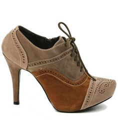Wantttttttt!!!! Bootie - Saddle Shoe Chic - Brownie | Tailor and Stylist