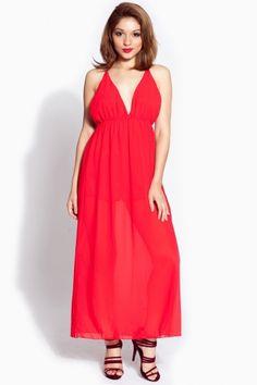 5c855ba1aa73 Red Chiffon Maxi Dress   Cicihot sexy dresses