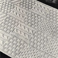 Knitted Rug PDF Pattern 31 x 43 inches Vintage 1960s | TodaysTreasure2 - Craft…