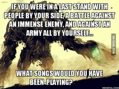 I would choose Carrion, a song from Shadow of the Colossus called Counterattack, and Always Running.