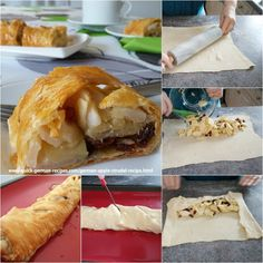 A super easy version of the German Apple Strudel using frozen butter puff pastry. Check out  http://www.quick-german-recipes.com/german-apple-strudel-recipe.html