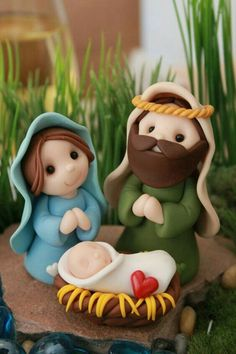 Most up-to-date Absolutely Free Polymer clay crafts nativity Suggestions Miniatur Krippe Polymer Clay Krippe Weihnachtsdekor Polymer Clay Ornaments, Polymer Clay Figures, Cute Polymer Clay, Fimo Clay, Polymer Clay Projects, Polymer Clay Creations, Clay Beads, Felt Ornaments, Diy Nativity