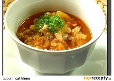 Chana Masala, Thai Red Curry, Quinoa, Chili, Soup, Ethnic Recipes, Bulgur, Red Peppers, Chile
