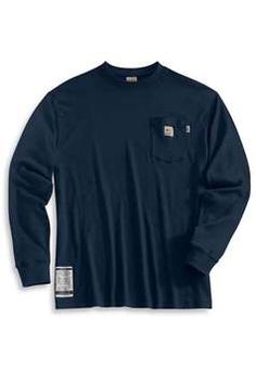 Carhartt Mens FRK294 Flame Resistant Long Sleeve T Shirt - Dark Navy | Buy Now at camouflage.ca