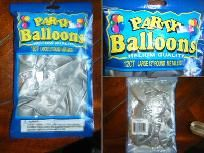 "Silver Party Ballons Helium quality 12ct Large 12"" round Metallic-New/Free Shipping!"