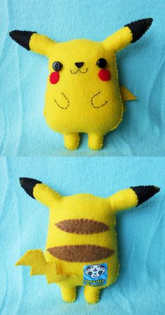 I want to make a pikachu plush like this! I want to make a pikachu plush like this! The post I want to make a pikachu plush like this! appeared first on Poke Ball. Geek Crafts, Cute Crafts, Crafts For Kids, Pikachu Pikachu, Pokemon Birthday, Pokemon Party, Felt Dolls, Plush Dolls, Pokemon Craft