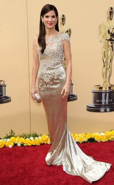 The Oscar nominee stood out in Marchesa at the 2010 award show.