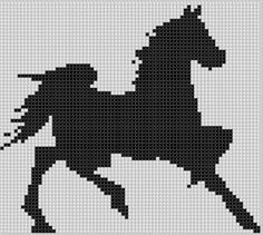 Horse Trot Cross Stitch Pattern