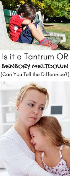 Is it a tantrum or sensory meltdown? Can you tell the difference?