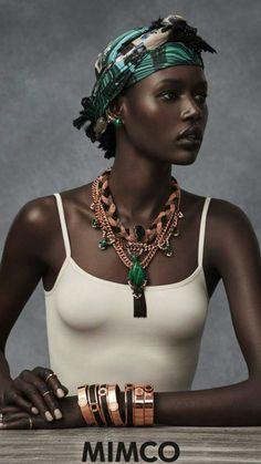 Foulard cheveux crépus afro