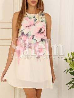 To find out about the Multicolour Sleeveless Floral Print Dress at SHEIN, part of our latest Dresses ready to shop online today! Dress Outfits, Fashion Dresses, Dress Up, Pink Dress, Spring Dresses, Spring Outfits, Elegant Dresses, Cute Dresses, Look Fashion