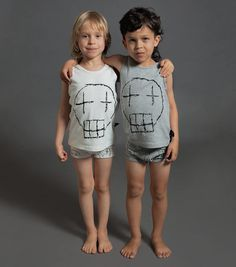 4fbaef331780 Boys sketch skull underwear set. nununu world
