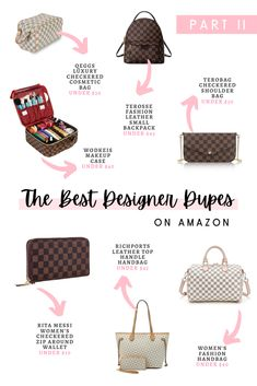 I'm so excited to share today's post because this is my much anticipated the best handbags and purses designer dupes on Amazon Part II. Happy shopping! #designerdupes #fashionblogger #handbags #purses #chicfashion