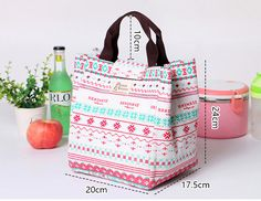 SaicleHome Hand-held Lunch Tote Bag Picnic Cooler Insulated Handbag Waterproof Storage Containers Cheap - NewChic Mobile